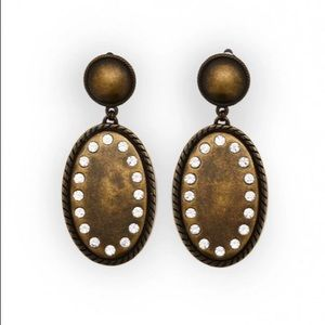 ALESSANDRA RICH Brass With Crystal earrings new
